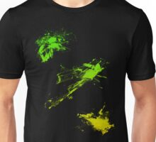 color splash green-yellow Unisex T-Shirt