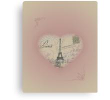 Paris in my heart Canvas Print