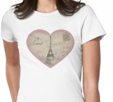 Paris in my heart Womens Fitted T-Shirt