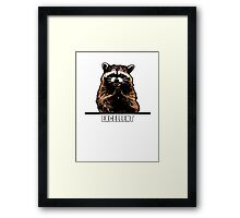 Evil Raccoon Framed Print