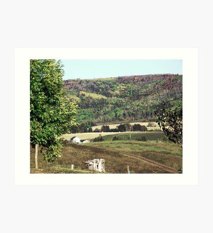 Rural Quebec Farm Art Print