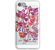 fabulous flock of flamingos iPhone Case/Skin