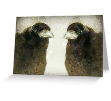 T is for ... TRUTH about Why Crows Are Cool Greeting Card