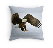 Ice Eagle Throw Pillow