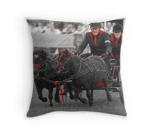 Black and red................. Throw Pillow