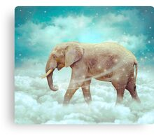 Walk With the Dreamers (Elephant in the Clouds) Canvas Print