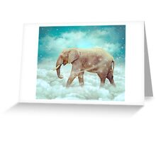 Walk With the Dreamers (Elephant in the Clouds) Greeting Card