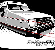 Reliant Rialto anniversary by car2oonz