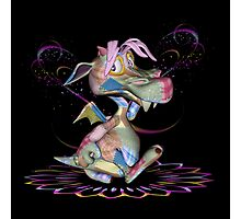Patchwork Dragon .. throw, totes Photographic Print