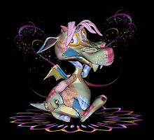 Patchwork Dragon .. throw, totes by LoneAngel