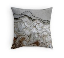 abstract old wall Throw Pillow