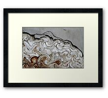 abstract old wall Framed Print