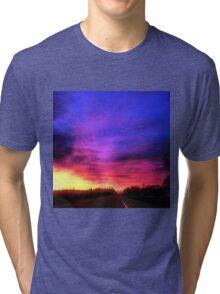 Magenta Sky Drive Tri-blend T-Shirt