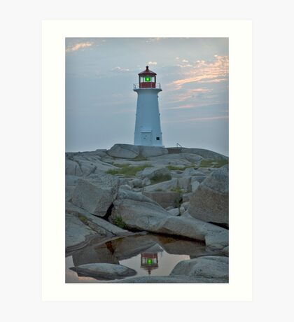 Peggy's point light reflection Art Print