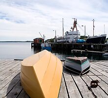 Lunenberg Harbour Nova Scotia Canada by Roxane Bay