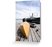 Lunenberg Harbour Nova Scotia Canada Greeting Card