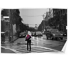 City Streets Rainy Days Poster