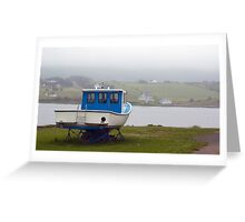 Fog in the harbour Greeting Card