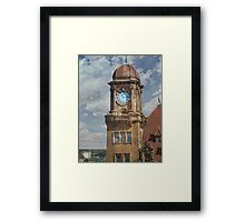 Train Station Clock Tower Framed Print