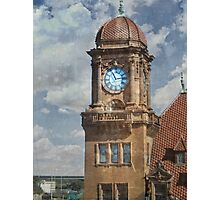 Train Station Clock Tower Photographic Print