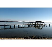 Alone on the dock Photographic Print