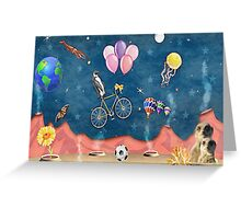 Space junk with meerkats Greeting Card
