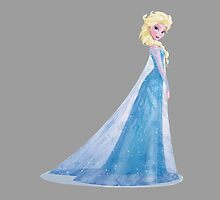Queen Elsa Cartoon by BethannieeJ