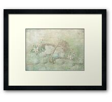 Easter Egg Basket Framed Print