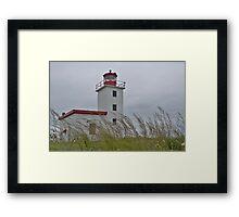Caribou lighthouse Nova Scotia Canada Framed Print
