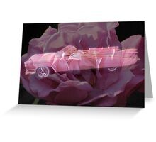 Pink Cadillac Rose Greeting Card