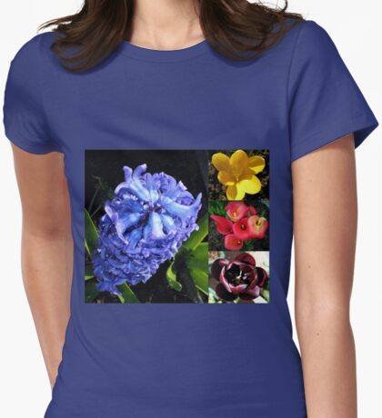 Flowering Bulbs Collage Womens Fitted T-Shirt