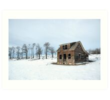 Winter Farmhouse Art Print