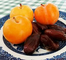 A Fruity Breakfast - Dates and Plums by kathrynsgallery
