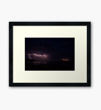 Storm over Bannister Head Framed Print
