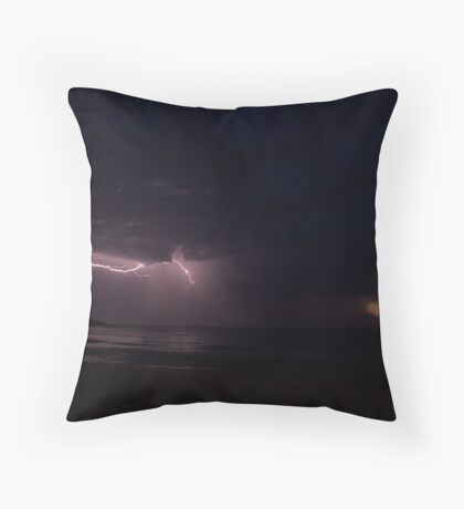 Storm over Bannister Head Throw Pillow