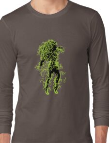 Girl with green floral Long Sleeve T-Shirt