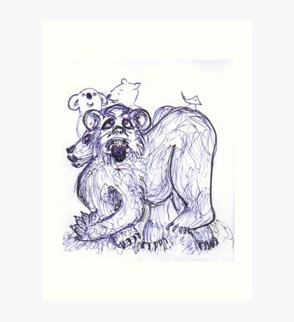 A Sort of Bear Art Print