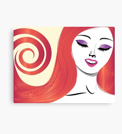 Girl with red hair 3 Canvas Print