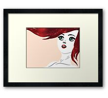 Girl with red hair 4 Framed Print
