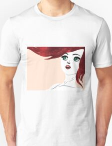 Girl with red hair 4 Unisex T-Shirt