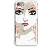 Girl with red hair 5 iPhone Case/Skin