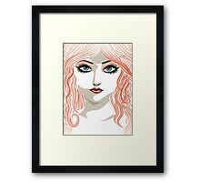 Girl with red hair 5 Framed Print
