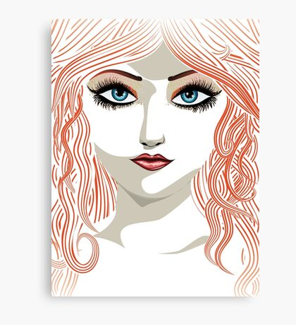 Girl with red hair 5 Canvas Print