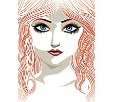 Girl with red hair 5 Photographic Print