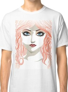 Girl with red hair 5 Classic T-Shirt