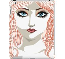Girl with red hair 5 iPad Case/Skin