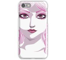 Portrait in pink color iPhone Case/Skin
