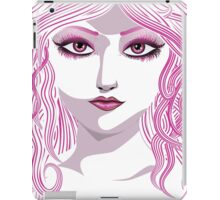 Portrait in pink color iPad Case/Skin