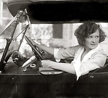Actress Behind the Wheel, 1921 by historyphoto