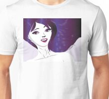 Girl with violet hair Unisex T-Shirt
